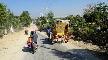 On the road in Sagaing, Myanmar